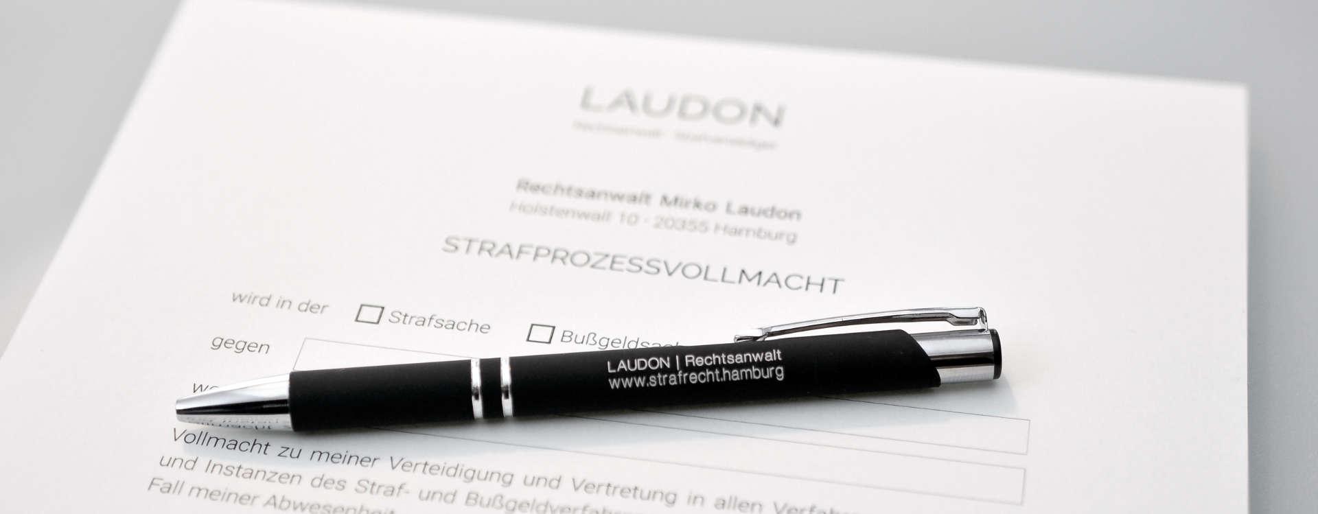 Strafprozessvollmacht // Strafrecht // LAUDON Strafverteidigung