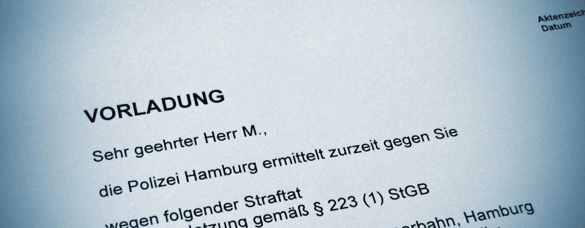 Ermittlungsverfahren | Wissenswertes über das Ermittlungsverfahren. Strafverteidiger in Hamburg